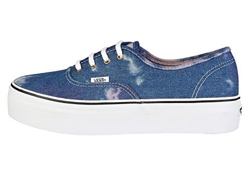 Vans U Authentic Platform (Acid Denim) Bl, Baskets Basses mixte adulte Bleu