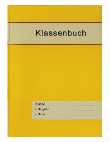 Klassenbuch Standard mit gelbem Umschlag, für alle Schulformen - 11 Unterrichtsstunden/Tag