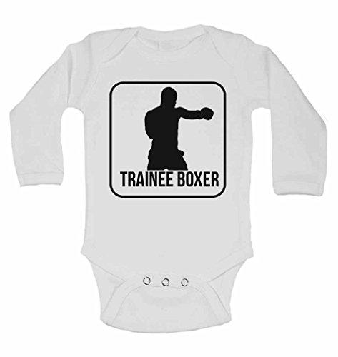 NEUE personalisierbar Lange Ärmel wächst Baby Westen Bodys Baby–Jungen, Mädchen–weiß weiß weiß 2 - 3 Jahre (Herren-boxer Strampelanzug)