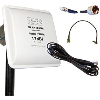 UMTS HSDPA 3G Antenne Panel 17dBi Gewinn 5Meter: Amazon.de