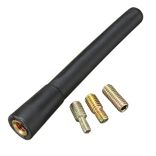 Autoantenne 18cm Antenne Dachantenne Kurz DIN für Empfang von FM AM DAB GPS GSM inkl. 3 Gewindeadapter M4 M5 M9