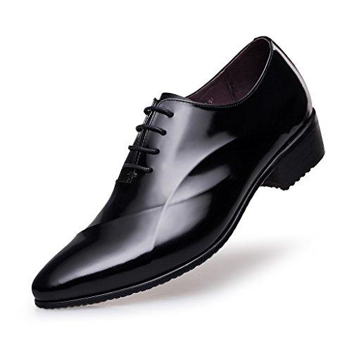 zro-mens-lace-up-formal-modern-oxford-dress-shoes-9-uk-black