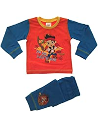 Kids Boys Official Disney Jake And The Neverland Pirates Long Pyjamas Set Long Trousers Pants Pj's Pjs 1-4 Years