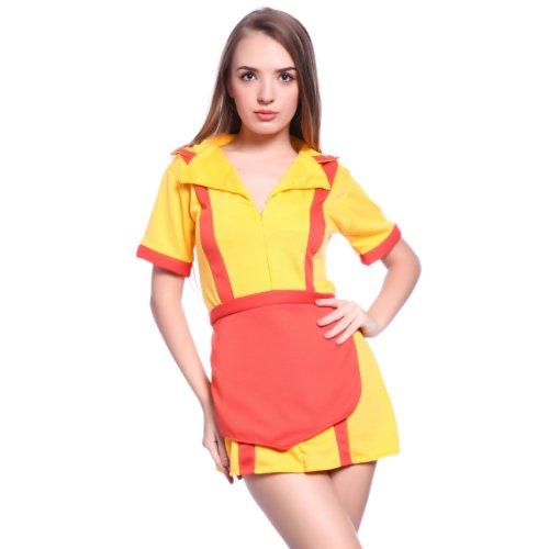 Gr.L Sexy Maid Hausmaedchen 2 broke Girls Dienstmaedchen Kostuem f. Karneval (Kostümen Sexy In Girl)