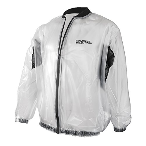 O'neal Splash Rain Jacket Motorrad Regenjacke transparent: Größe: M (48/50)
