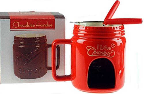 LP Support Schokolade Fondue Becher Geschenk-Set–Rot - Schokolade-becher Geschenk-set