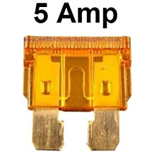 Car Spare 10x Standard Blade Fuses 5 Amp Fuse Box For Vehicles Automotives