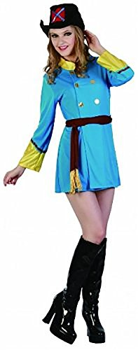 (Lady Adult Musketeer Fancy Dress Costume -One Size UK 8-14)