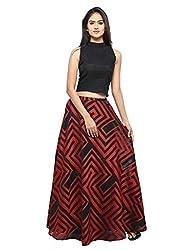 Inddus Blended Lehenga Choli (IND-IFW-29_Black_Free Size )