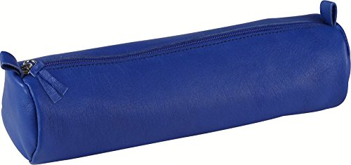 clairefontaine-trousse-ronde-cuir-teinte-oe55x22-cm-bleu-8310c