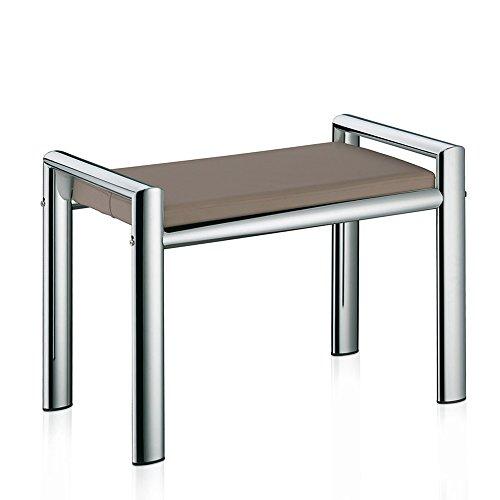 Kela 21984 Sitzhocker, Metall, 66,5 x 38,5 x 48,5 cm, Lunis, Taupe (Taupe Bad)