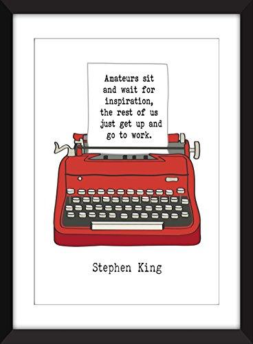 (Stephen King Amateure Zitat Ungerahmter Druck)