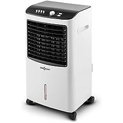 OneConcept MCH-2 V2 FreshLine - Rafraîchisseur d'air, Ventilateur, Econome, 65W, Volume d'air de 400m³/h, Humidificateur/Nettoyeur, Filtre poussière intégré, Blanc