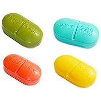 WDOIT Kapselform Multi-Funktion Pillendose Candy Farbe Kunststoff Storage Pillenbox Vitamin Aufbewahrungsbox mit... preisvergleich bei billige-tabletten.eu