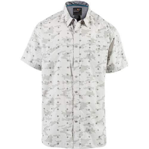 5.11Tactical Herren Crestline (Camo Kurzarmhemd, Herren, 71377, Pebble, Large - 5.11 Holster Shirt