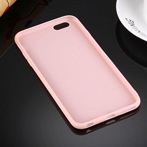 Phone Case Coque cover, Pour iPhone 6 / 6s, boîtier de protection TPU solide sans trou rond ( Color : Black ) Pink