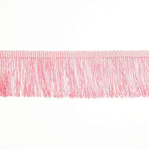 Fransen Fransenborte 5 cm breit rosa Borte Accessoires Karneval Dekorationen - Preis gilt für 1 m