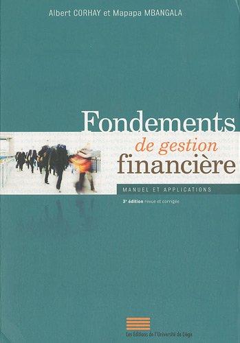 Fondements de gestion financière : Manuel et applications