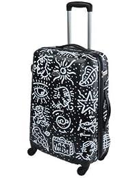 Savebag-Spiessert 18260/69 Noir - Grande Valise TSA rigide 69 Cm - 4 Roues 360° - Capacité : 102 Litres