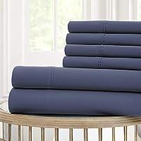 Allure Nanotex Cool Comfort 120 gsm Juego de sábanas, Azul Hill, Doble, ...