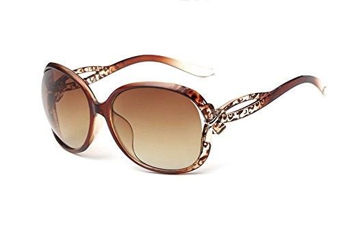DaoRier Classic Retro Polarisierte rund Sonnenbrille 100% UV-Schutz, Polykarbonat, braun, 141 * 51 * 136mm