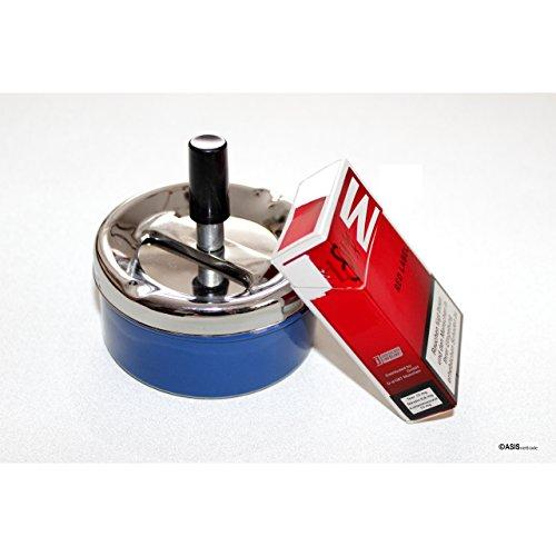 Aschenbecher Ascher aus Metall Blech – 30 Stück – blau – 9,5 cm Durchmesser - 2