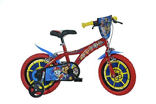 Dinobikes Paw Patrol Kinderfahrrad Jungenfahrrad – 14 Zoll Original Lizenz | Kinderrad mit Stützrädern - Das Fahrrad aus Paw Patrol als Geschenk für Jungen