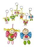Schutzengel Schlüsselanhänger aus Holz Junge oder Mädchen, 1 Stück nicht wählbar