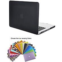 """MacBook Pro 13"""" Caso Funda TECOOL® Ultra Delgado Multi Colores Suaves al Tacto Duro Case Cubierta Plástica con TECOOL® Alfombrilla De Raton para MacBook Pro 13"""" modelo: A1278(Negro)"""