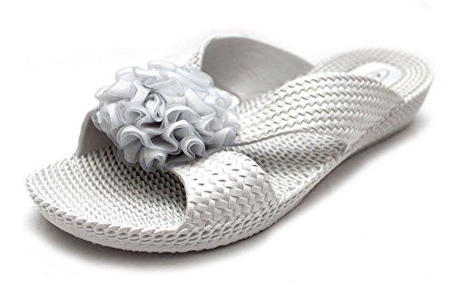 Mr Shoes-Sandali di abbigliamento di sintetiche, da donna, colore: argento: Argento (Plata - plata)