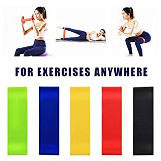 Exercise Bands Resistance Bands For Strength Training, Physical Therapy, Yoga, Home Fitness, Set of 5