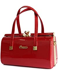 Fragrance Red Color Party Wear Stylish Box Pattern Handbag For Girls And Women's