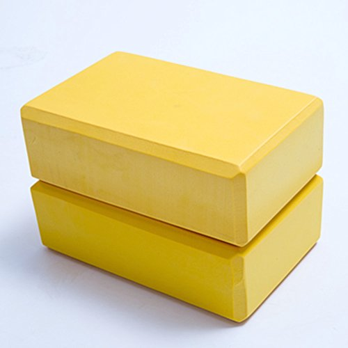 homdsim Set von 2Yoga Blocks EVA-Schaum Bricks bietet Stabilität Balance und Unterstützung verbessern Kraft–9x 6x 7,6cm, gelb (Sorge Die Kraft Gemeinsame)