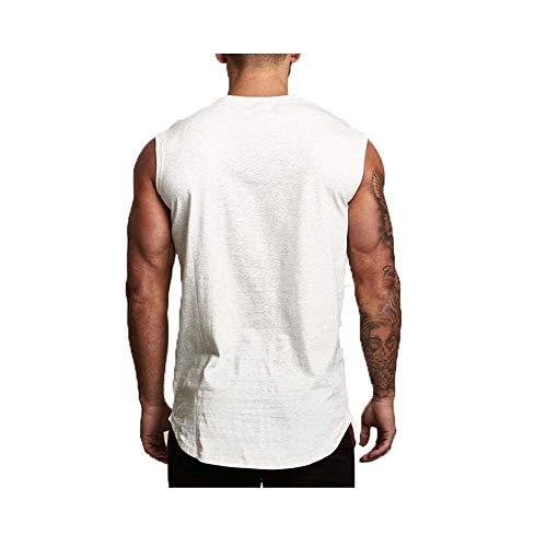 LSDX Vest Herren Fitness Brothers Running Training Basketball Ärmelloses Schulter-T-Shirt -