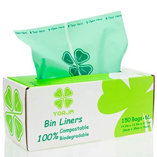 YORJA 100% compostable Biodegradable 6L Bolsa Basura
