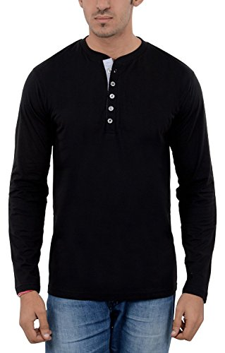 Aarbee-Mens-Cotton-Full-Sleeve-Henley-T-Shirt-Combo-of-2-in-8-vibrant-colors