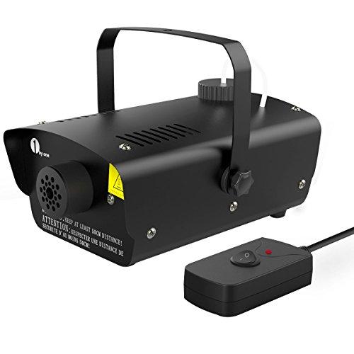1byone 400 Watt Mini Nebelmaschine, kleine Heimnebelmaschine mit Kabelfernbindung, Tankkapazität von 300ml