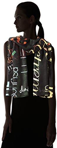 Desigual FOULARD_RECTANGLE HERITATGE - Châle pattern_name - Femme Noir (NEGRO 2000)
