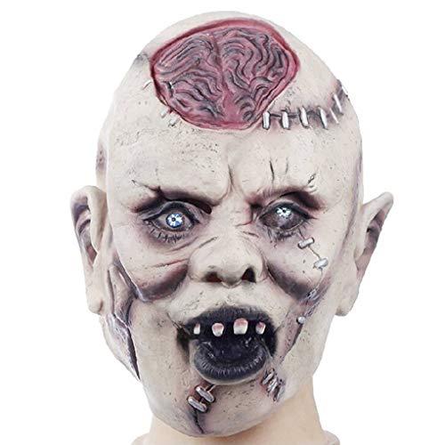 l Party Supplies Halloween Latex Maske Horrifying Maske Carnaval Bar Terror Cosplay ()