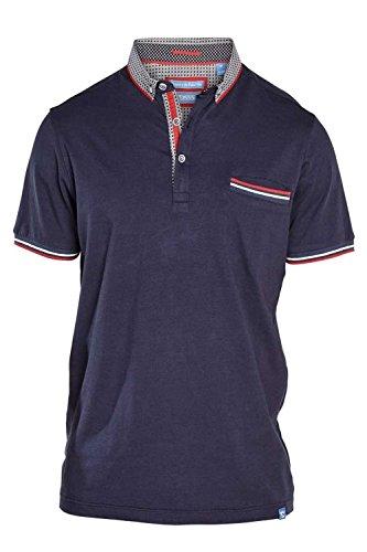 D555 Herren Button-down Poloshirt grau grau XX-Large Navy - Blue