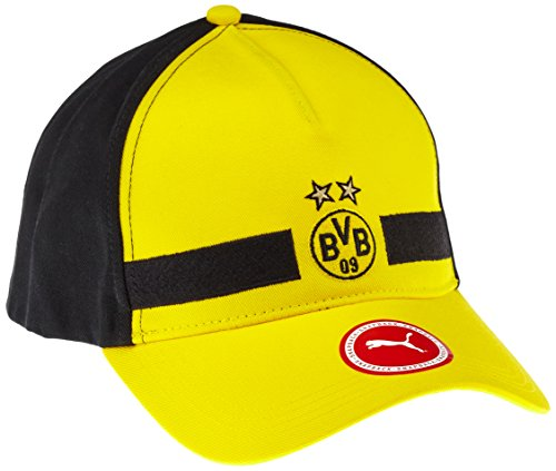 PUMA Mütze BVB Leisure Cap, Cyber Yellow/Puma Black, OSFA, 021038 01