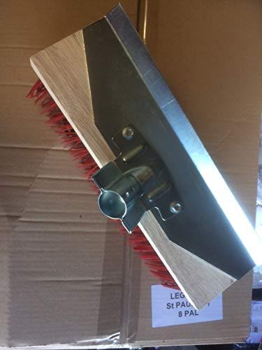 balai cantonnier 32 cm avec grattoir + manche cantonnier 1.40m