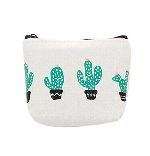 Cosanter Monedero Carteras Lona Patrón Cactus Mujer