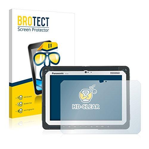 BROTECT Schutzfolie kompatibel mit Panasonic Toughpad FZ-A2 (2 Stück) klare Bildschirmschutz-Folie