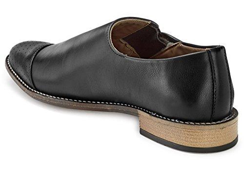 Abendgarderobe Adreno Slip-On Faux Leder Herren Schuhe - Größe Vorhanden Schwarz