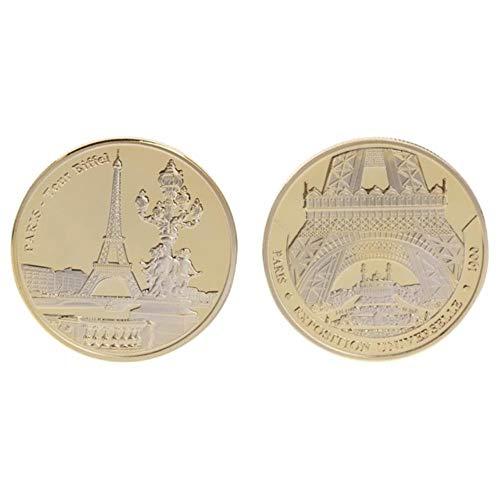 WanTo Gedenkmünze Paris Tower Building Sammlung Kunst Geschenke BTC Bitcoin Alloy Sammlung Enthusiasten, Gold