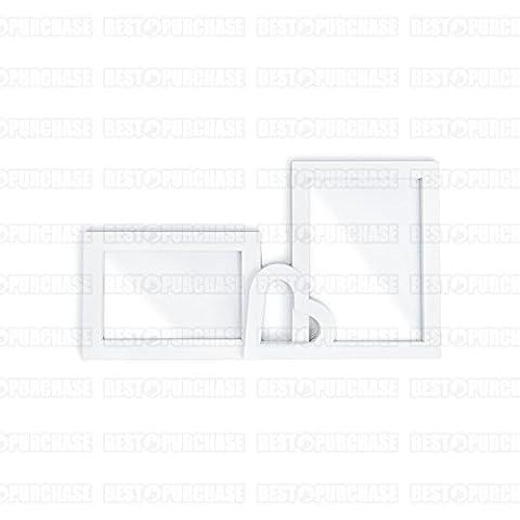 Bilderrahmen lose 2-Medium | 2Fotos, Standardgröße | Doppel-Bilderrahmen | Deko Haus weiß