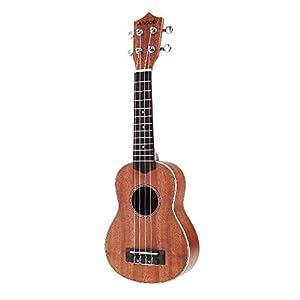 Andoer® Andoer 21'' Compact Ukelele Ukulele Hawaiian Mahogany Aquila Rosewood Fretboard Bridge Soprano Stringed Instrument 4 Strings