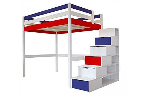 Hochbett Holz Weiß 140x200 : Hochbetten cube