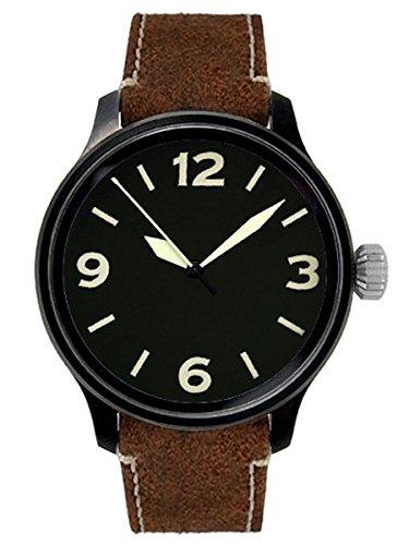 Aristo Reloj de hombre reloj de pulsera Automatic ft de Black Planeador Reloj 0h09piel